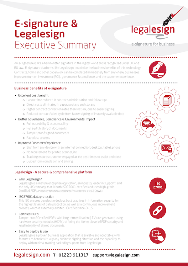 Executive summary page 1