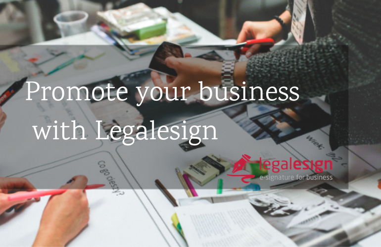 Promote your business with Legalesign